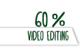 60% Video editing
